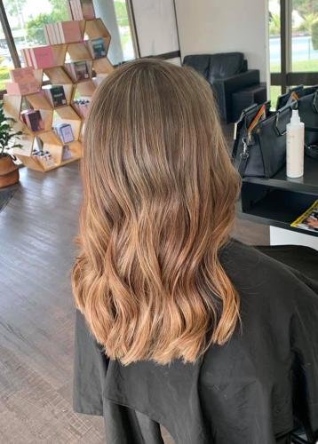 Balayage Highlights with Caramel Result Hairdressers Regents Park Hairz Rock