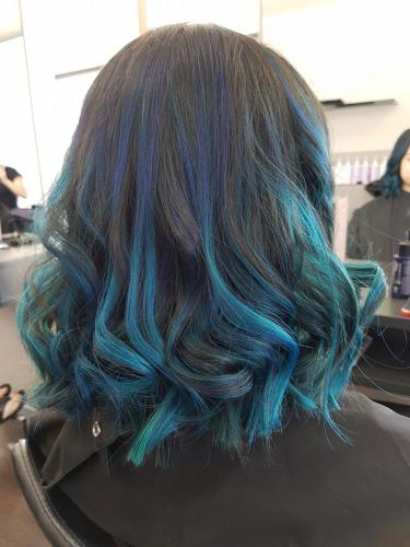 blue balayage hairdressers near me browns plains hairz rock