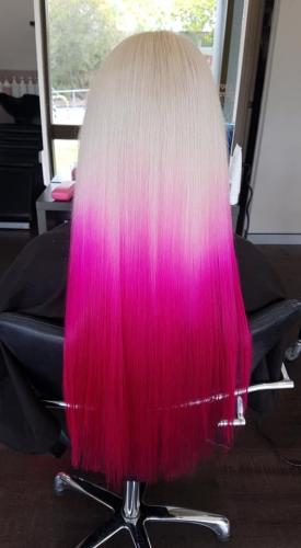 Pink Balayage Hairdressers Near Me Browns Plains Hairz Rock