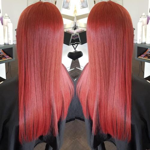 full colour red best colourists hairdressers browns plains hairz rock